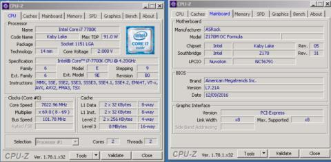 Overclock i7 7700K a 7 GHz