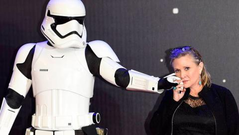 Fallece Carrie Fisher, la princesa Leia de Star Wars