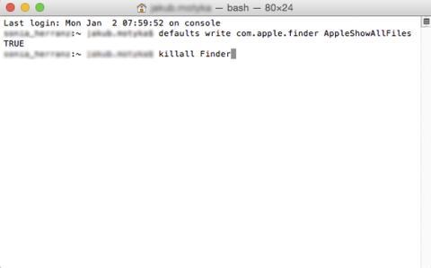 Ver archivos ocultos en Mac OS X