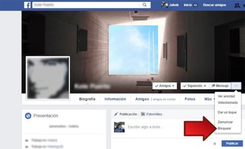 Bloquear a un amigo en Facebook