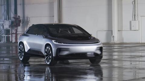 El coche eléctrico Faraday Future FF 91