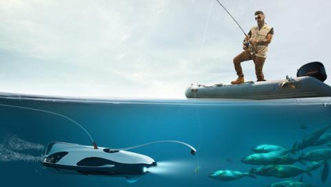 Dron submarino para pescadores
