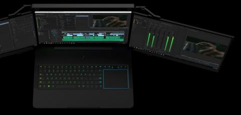 Razer presenta un portátil con tres pantallas 4K