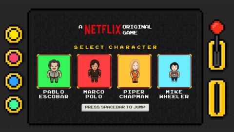 Netflix crea un videojuego gratuito con los personajes de sus series