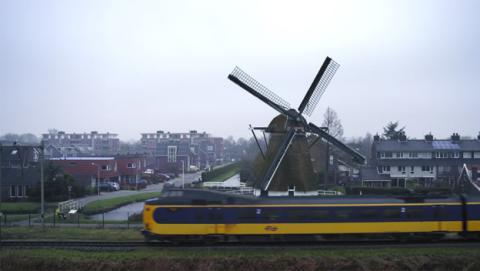 Los trenes de Holanda ahora funcionan con energía eólica