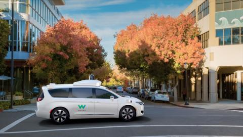Monovolumen autónoma de Google Waymo
