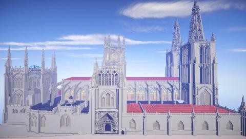 Dos jóvenes de Burgos diseñan réplicas de edificios reales