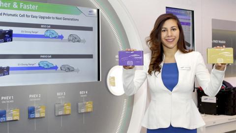 Baterías Samsung para coches con carga rápida