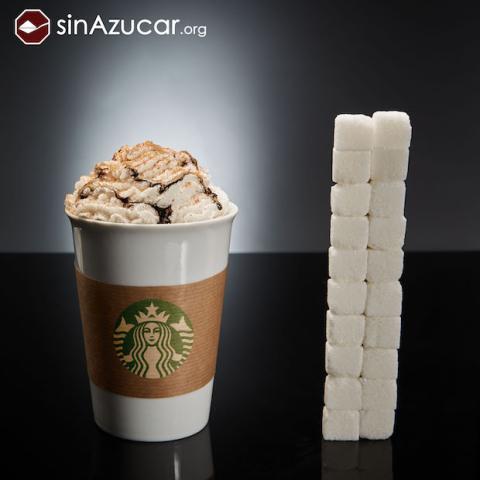 Azúcar en el café de Starbucks