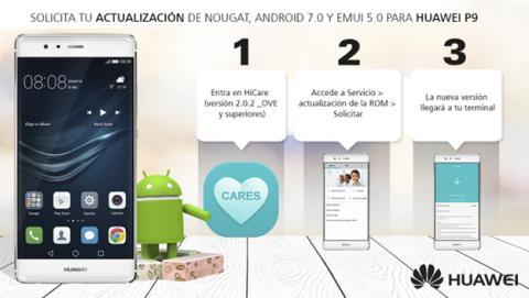 Así puedes instalar la actualización de Android 7.0 Nougat en el Huawei P9