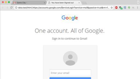 Esta página parece Gmail, pero en realidad es una estafa