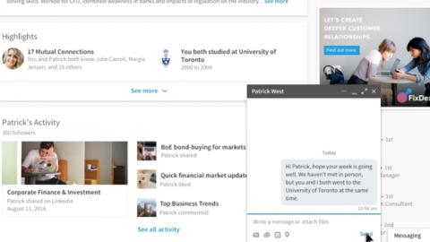 Mensajería en Linkedin