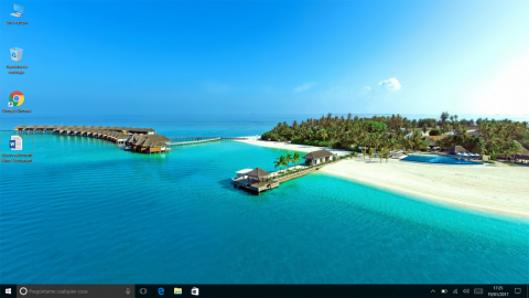 La pantalla principal de Windows 10 en la Tbook 16