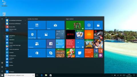 El menú de Inicio de Windows