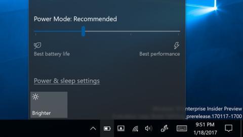 La barra de ahorro de energía de Windows 10