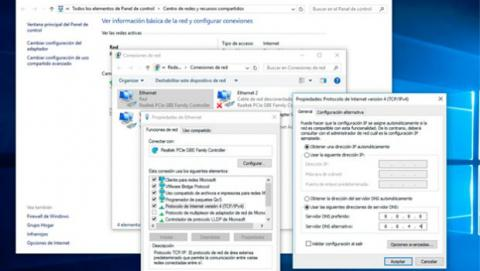 Cambia las DNS en Windows 10