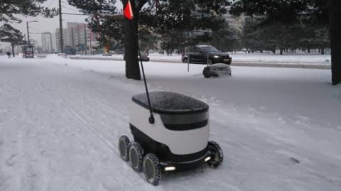 Olvida los drones, tus pedidos te los traerá un robot autónomos sobre ruedas