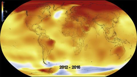 100 años de cambio climático en 20 segundos de vídeo