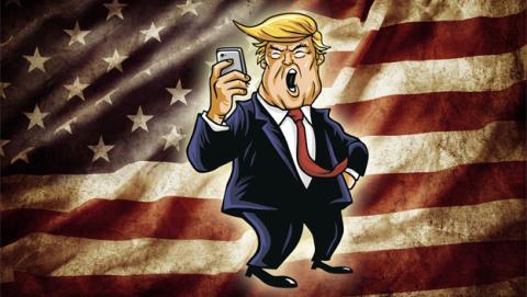 Donald Trump utiliza un móvil Android viejo e inseguro