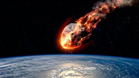 chocar asteroide tierra