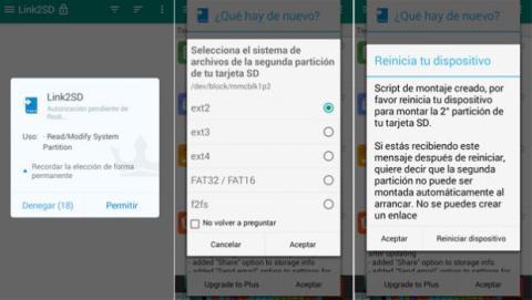 Usa Link2SD para mover apps a la tarjeta