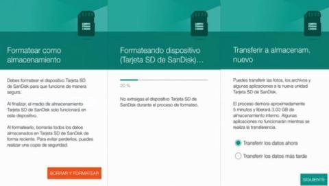 Mover apps a la microSD con Android 6.0