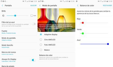 Pantalla Galaxy A5 Software