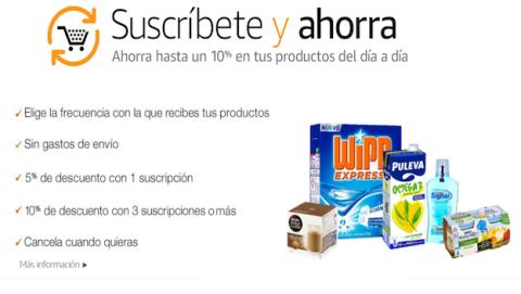 """Amazon estrena """"Sucríbete y ahorra"""" para pedidos recurrentes"""