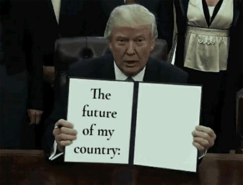 Un meme creado con la aplicación de Donald Draws