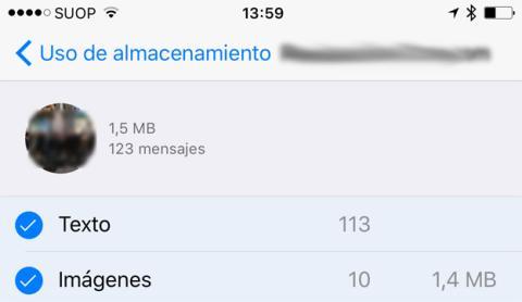 Limpiar imágenes y texto en chat de la aplicación en los iPhone