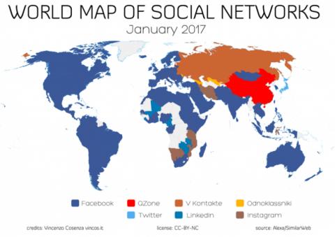 facebook red social más utilizada
