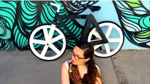 Existe una bicicleta hecha sólo con materiales reciclables