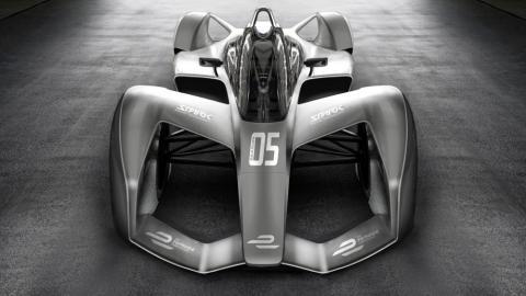 Prototipo del nuevo modelo de coche de Fórmula E
