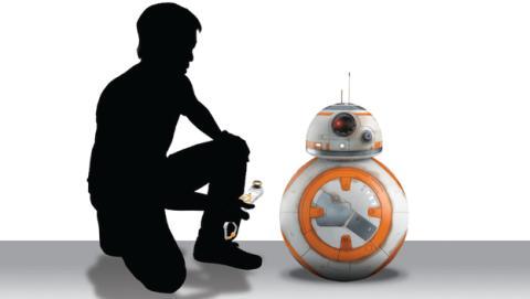 Muestra de las dimensiones del BB8 de Spin Master