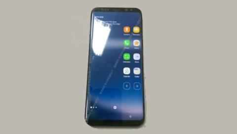 La imagen filtrada del Galaxy S8 deja al descubierto el frontal del teléfono