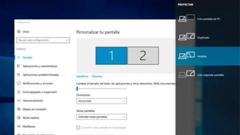Configura la pantalla secundaria de tu PC