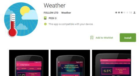 La aplicación de Weather que esconde malware en su código