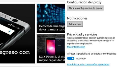 Cómo desactivar las notificaciones desde Microsoft Edge