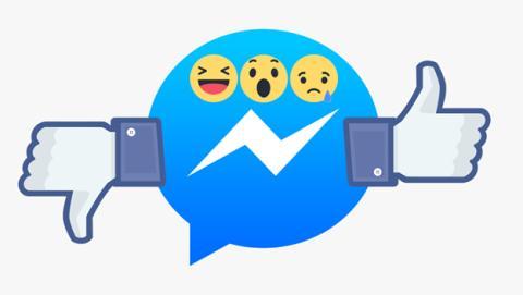 Las reacciones ya se prueben en Facebook Messenger