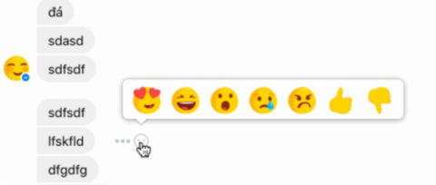 reacciones de facebook messenger