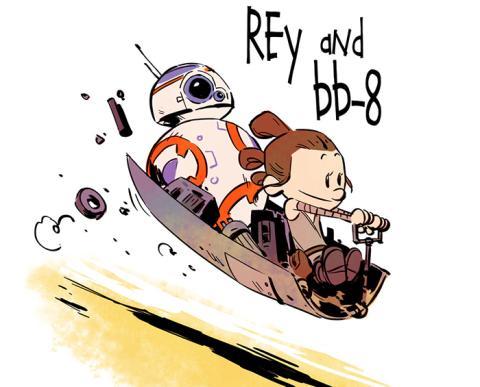 El dibujante que combina Star Wars y Calvin & Hobbes en sus ilustraciones
