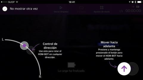 La aspiradora también se puede controlar desde el móvil