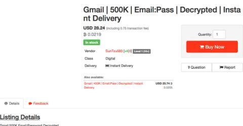 Esta oferta de la Dark Web ofrece miles de cuentas robadas de Gmail por 28 dólares