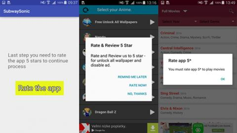 Este malware te obliga a valorar aplicaciones en Google Play para poder utilizarlas