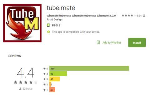 Aplicación falsa de Tube Mate