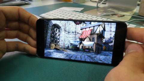 El simulador Epic Citadel se ejecuta de maravilla en este móvil, con la máxima fluidez y unos gráficos de muy alta calidad