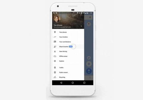 La opción de Compartir ubicación en Google Maps