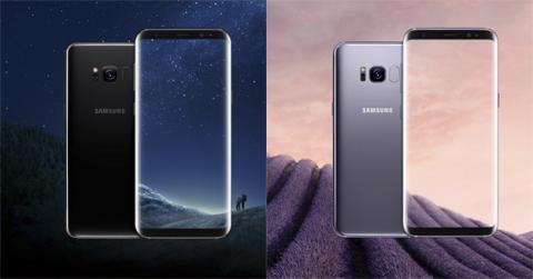 Dos de los colores del S8: negro y gris