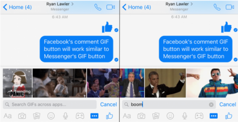 facebook gif botón