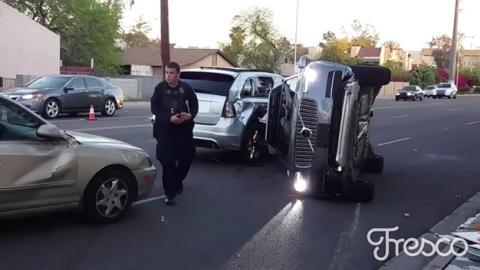 Uber cancela su coche autónomo tras un espectacular accidente